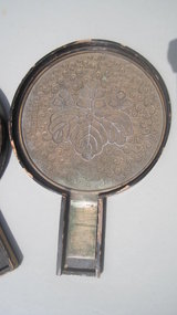 19th C. Japanese Bronze Mirror With Original Case MK