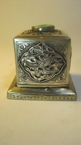 Late 19th/20th C. Chinese Silver Square Box Signed