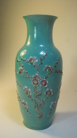 Late 19th C. Chinese Famille Rose Porcelain Vase
