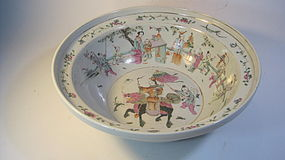 19th/20th C. Chinese Famille Rose Porcelain Basin Bowl
