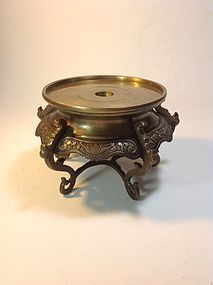 A Beautiful Early 20th C. Chinese Cast Bronze Stand