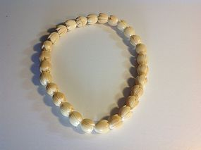 A Beautiful Vintage Chinese Ivory Choker