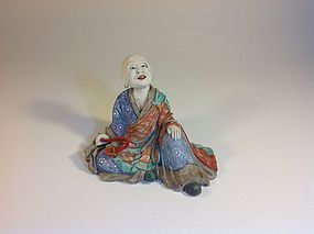 Early 20th C Japanese Porcelain Famille Rose Monk Sign