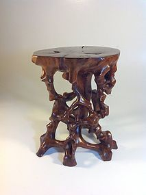 A Beautiful Qing Dynasty Chinese Wood Root Stand