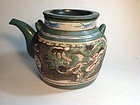 Early Qing Dynasty Chinese Yixing Red Clay Teapot