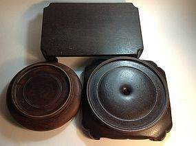 3pcs Beautiful Old Chinese Wood Stand