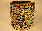 Chinese Cloisonne Enameled Brush Holder