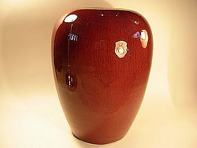 A Beautiful 18thC Ox-Blood Flambe-Glazed Porcelain Jar