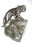 An Exquisite Meiji Period Signed Japanese Bronze Tiger