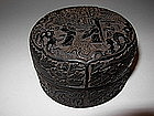 A Fine Carved Chinese Zitan Wood Box