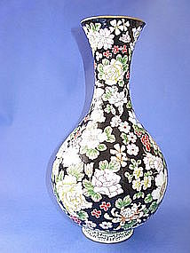 Early 20th C. Chinese Enamel Vase