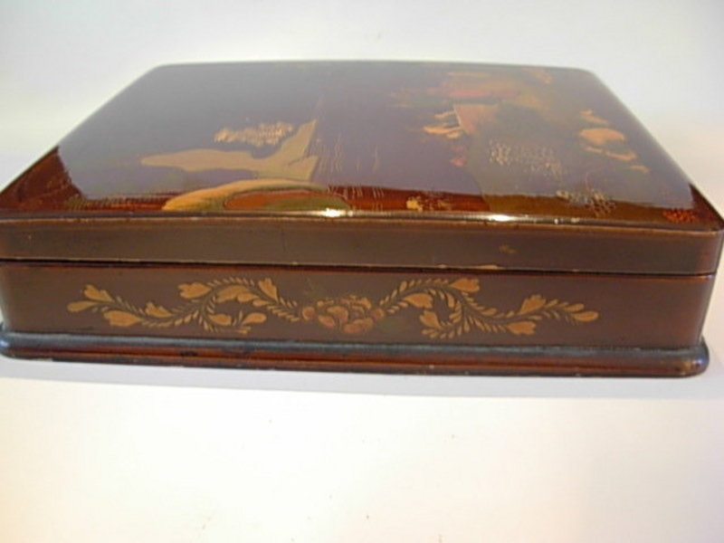 Antique Japanese Lacquer Suzuri Bako (Writing Box)