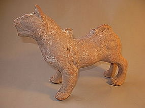 Beautiful Han Dynasty Tomb Pottery Standing Dog