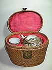A 19thC Chinese Famille Rose Medallion Porcelain Teapot