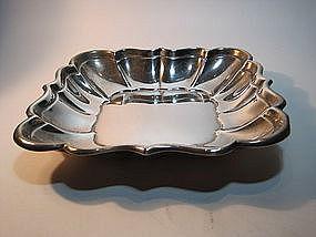 A Fine Square Shape Royal Winsor Sterling Silver Dish