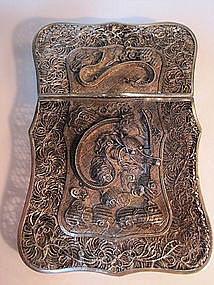 A Beautiful Chinese Silver Filigree Card Case