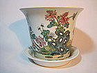 A 19/20th C. Chinese Famille Rose Planter Pot