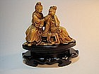 A 19th C. Chinese Beautiful Soapstone Carving