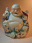19th/20th C. Chinese Famille Rose Porcelain Buddha