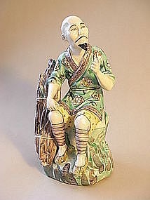 19th/20th C. Chinese porcelain famille verte figurine