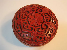 A Beautiful Early 20th C. Chinese Round Lacquer Box
