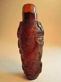 Beautiful 19th C. Chinese Amber Snuff bottle