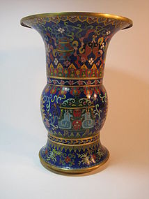 Early 20th C. Chinese Cloisonne Enamel Vase
