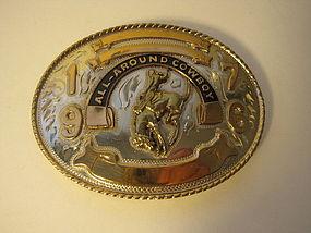 Constock Vintage German Silver Cowboy Beltbuckle