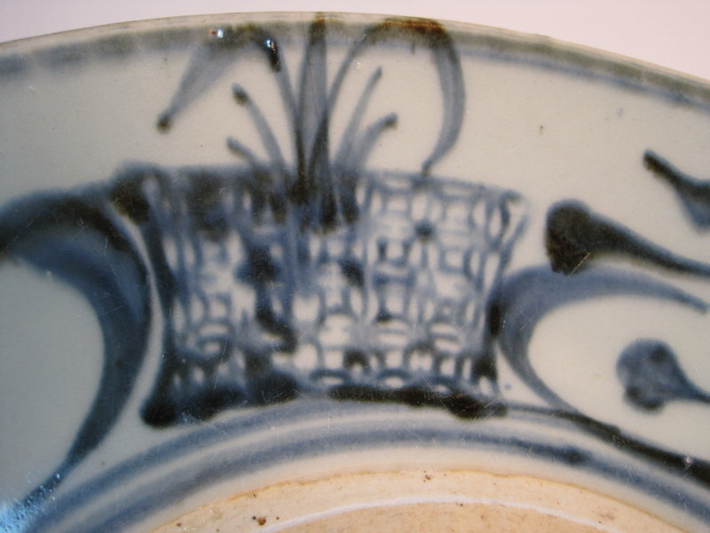 A Beautiful Chinese Ming Dynasty Blue and White Plate