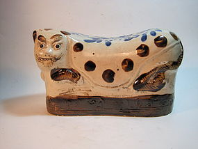 A Very Cute 19th C. Chiense Ceramic Tiger Pillow