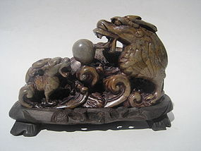 Beautiful 19th/20th C. Chinese Soapstone Carving