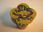 Early 20th C. Chinese Enamel Cloisonne Small Box