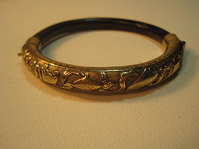 A Beautiful Chinese Old Rattan Silver Bangle Bracelet
