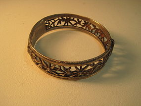 19th C. Chinese Silver Bangle