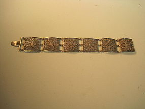 Beautiful 19th/20th C. Chinese Silver Filigree Bracelet
