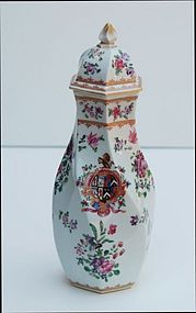 Samson Porcelain Covered Vase, late 19th C.