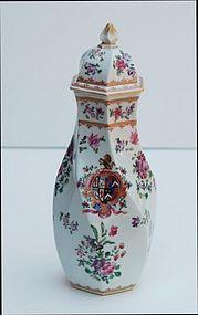 Samson Porcelain Covered Vase, late 19th C.