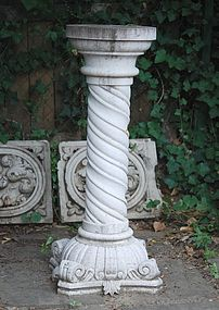 White Marble Pedestal for Statuary