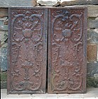 Pair of Continental Cast Iron Stove Plates, late 19th C