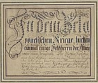 Calligraphy , German early 19th C.