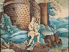 American Theorum Painting of King David, Ca. 1840