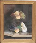 J. Bower, American Pastel Still Life, 19th C