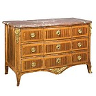 Louis XVI Kingwood Marble Top Commode, Ca. 1775