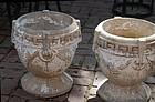 Pair of Concrete Garden Pots, 20thC
