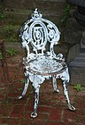 Assembled Set of Cast Iron Garden Chairs