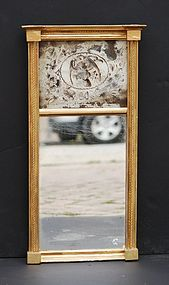 Federal-Style Giltwood Mirror with Eglomise Panel,19thC