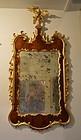 George III Mahogany and Parcel Gilt Mirror, circa 1765