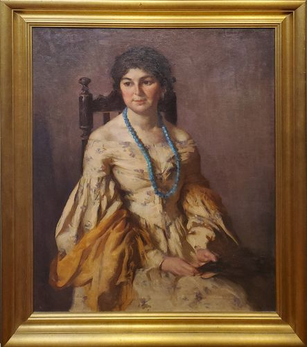 The Little Brunette is a Portrait Painting by Mary Rosamond Coolidge