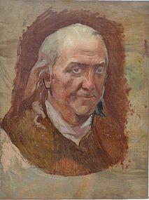 American School Painting of Benjamin Franklin, Ca. 1915
