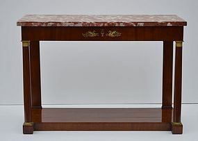 Italian Classical Mahogany Marble top Console, ca. 1820